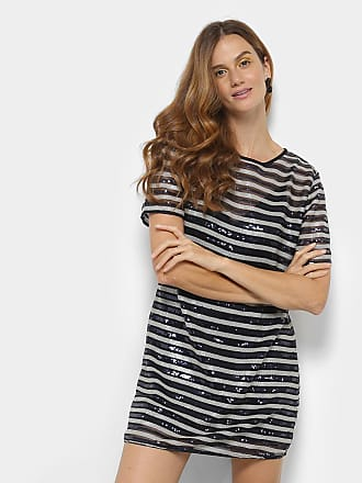 Colcci Vestido Colcci Curto Paetê Listrado - Feminino c92325ab5b005