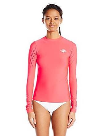 8ce149e2758 Billabong Womens Core Loose Fit Long Sleeve Wet Shirt Rashguard, Red Hot, X-
