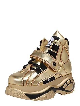 97949ccc54d323 Buffalo Sneaker 1348-14 2.0 gold   schwarz