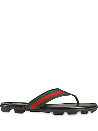 72904a14e Gucci Web and leather thong sandal - Black