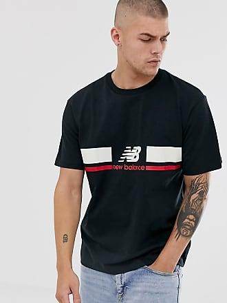 New Balance Athletics - Schwarzes T-Shirt mit Logo auf der Brust