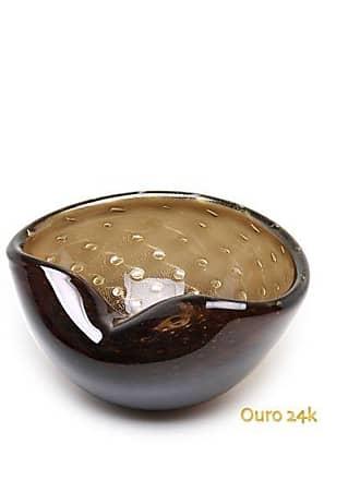 Cristais cá d'Oro Bowl 1 Tela Fumê com Ouro