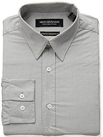 f319cfc37f3233 Nick Graham Mens Micro Dot Print Stretch Dress Shirt