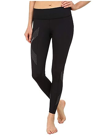 2XU Mid-Rise Compression Tights (Black/Dotted Reflective Logo) Womens Workout