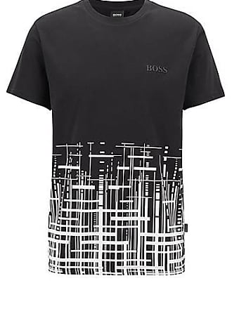 7bc4d9f25 BOSS Slim-fit beach T-shirt in cotton with UPF +50