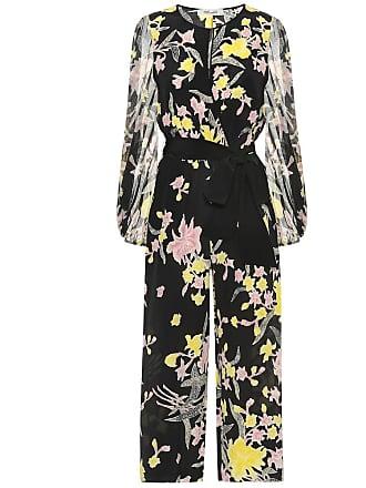 Diane Von Fürstenberg Delphi silk cropped jumpsuit