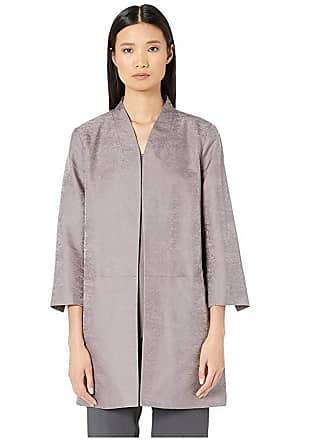 Eileen Fisher Stand Collar Jacket (Luna) Womens Coat