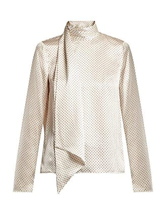 28bb598940b37 Erdem Yvonna Polka Dot Print Silk Blouse - Womens - White Multi