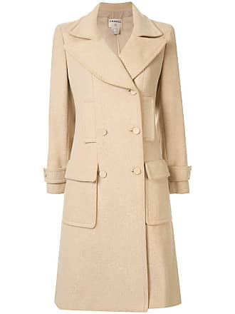 Chanel double breasted coat - Yellow