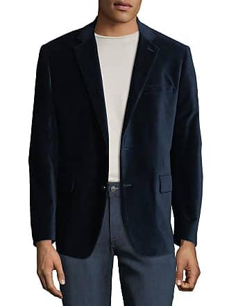 Neiman Marcus Mens Two-Button Velvet Blazer, Cobalt