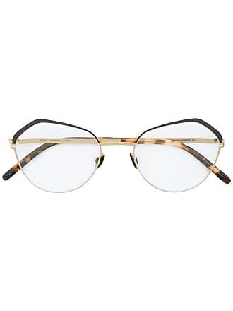 Mykita Armação de óculos geométrico - Marrom