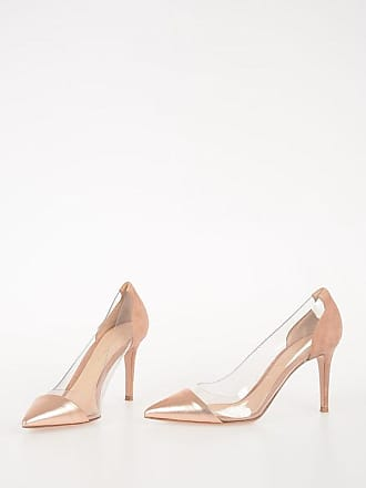 Gianvito Rossi 9cm Leather PLEXI Pumps size 37,5