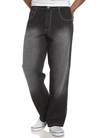 Southpole Mens 4180 Relaxed Fit Cross Hatch Blast Denim in Black Sand, 36x32