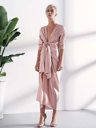 Viktoria Chan Lova midi draped dress