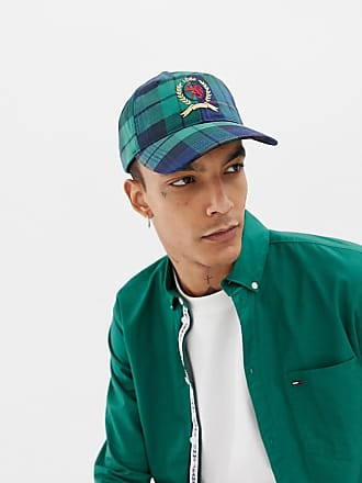 557f0888f8 Tommy Jeans 6.0 Limited Capsule baseball cap with crest logo in plaid check