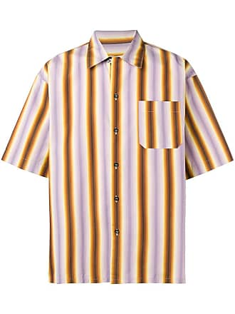 Marni striped short sleeve shirt - Yellow