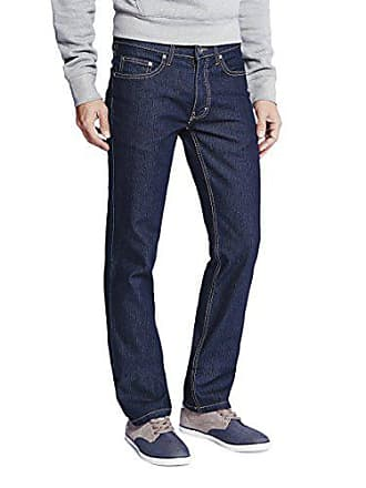 4861591d06fa7c Oklahoma Jeans Herren Straight Jeans R144 Blau (Dark Blue 002)
