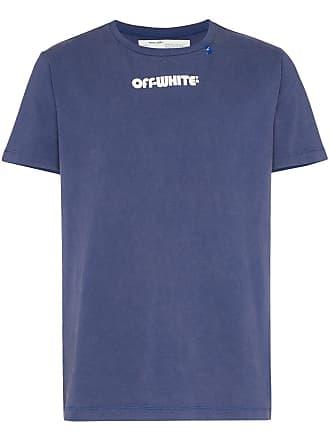 Off-white skeleton print short-sleeve T-shirt - Azul