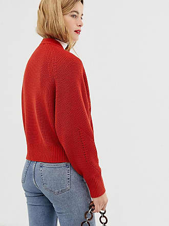 13878636212 Asos mixed rib cardigan in recycled blend - Red