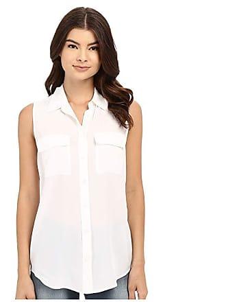 f28cacc604418 Equipment Sleeveless Slim Signature Top (Bright White) Womens Sleeveless