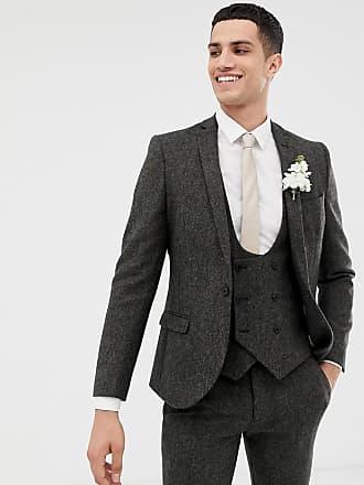 Twisted Tailor Giacca da abito super skinny in tweed Donegal antracite-Grigio