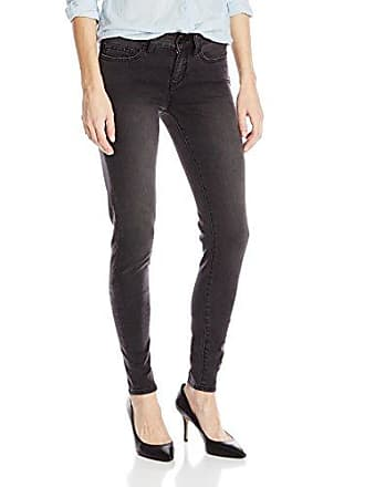 Yummie Tummie Womens Mid Rise Slimming Super Skinny Denim Jeans, Charcoal, 24