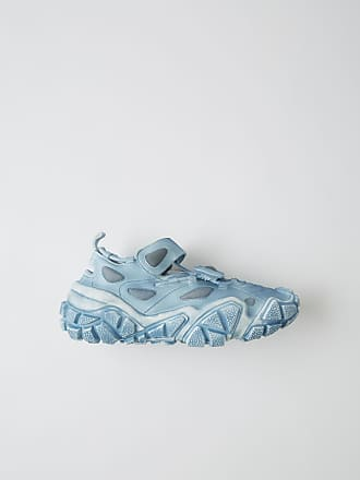 Acne Studios Bolzter Bryz W Tumbled Light blue Open velcro sneakers