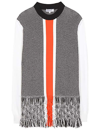 Opening Ceremony Tasselled macramé cotton-blend sweater