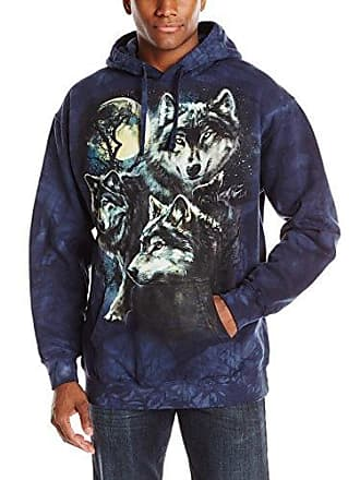 The Mountain Moon Wolves Col Hsw Adult Hoodie, Blue, Small