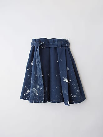 Acne Studios BK-WN-SKIR000005 Denim blue Pleated skirt