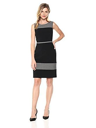 7f354ca9440 Nine West Womens Sleeveless Jewel Neck Color Block Dress