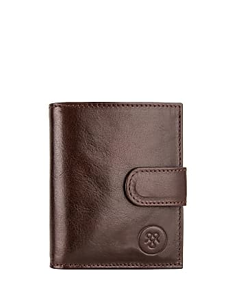 Maxwell Scott Maxwell Scott - Luxury Italian Leather Mini Wallet in Brown