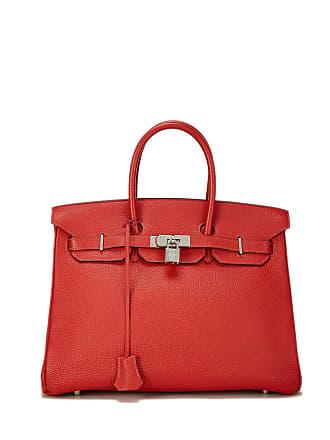 Hermès Birkin 35 Vermillion Togo Satchel Bag