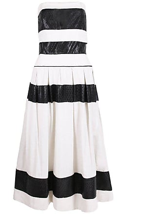 5e0286bbadc Chanel For Bergdorf Goodman Black   White Strapless Full Skirt Cocktail  Dress