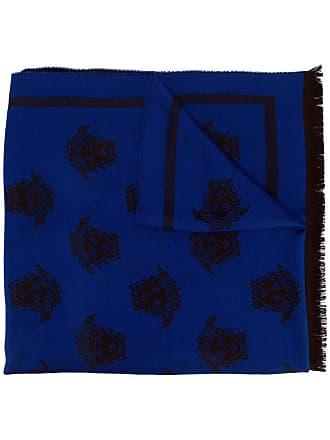 Versace Medusa intarsia scarf - Azul
