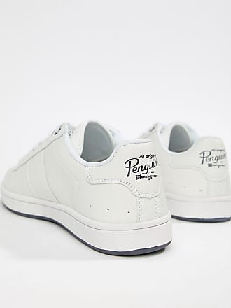 623567a6ab Original Penguin Wide Fit Stedaman Sneakers In White - White