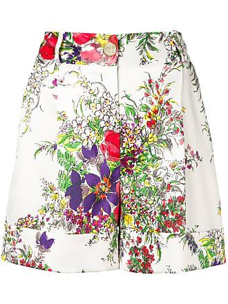 Blumarine floral print wide shorts - Neutro