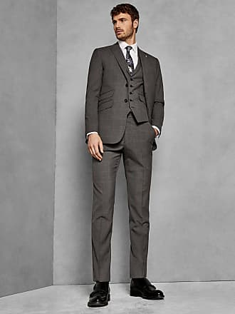 Ted Baker Sterling Wool Checked Trousers in Grey VIKONT, Mens Clothing