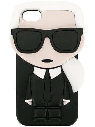 Karl Lagerfeld Capa para iPhone 7 3D Karl Ikonik - Preto