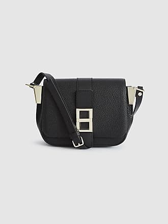782ccf40dedc Reiss Mini Ava - Leather Mini Cross Body Bag in Black