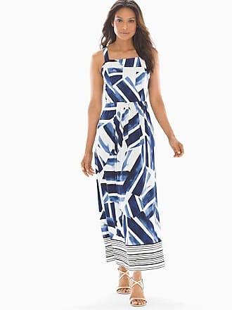 Soma Geo Print Maxi Dress Blue/White, Size XXL