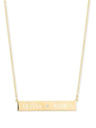 65c7aaaaf4cda3 Sarah Chloe Leigh Engraved Bar Pendant Necklace with Diamond