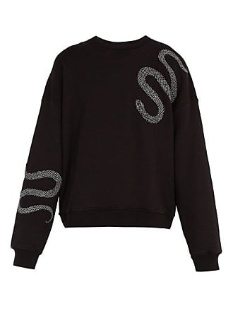Amiri Glitter Embroidered Snake Sweatshirt - Mens - Black