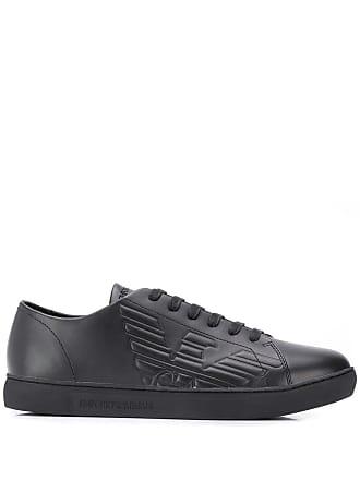 Emporio Armani embossed sneakers - Black