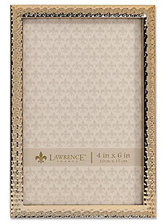 Lawrence Frames 713146 Metal with Hammer Effect, 4 x 6, Gold