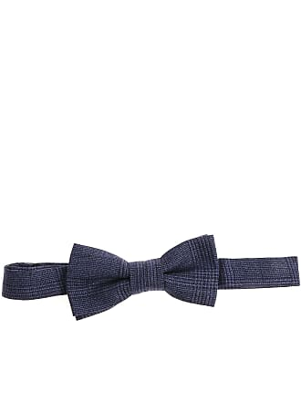 Altea Blue bow tie with checked pattern