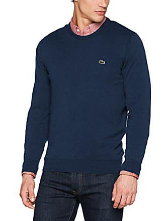 8745501d4c Lacoste AH7371 Pull, Bleu (Ancre Chine), Medium (Taille Fabricant : 4