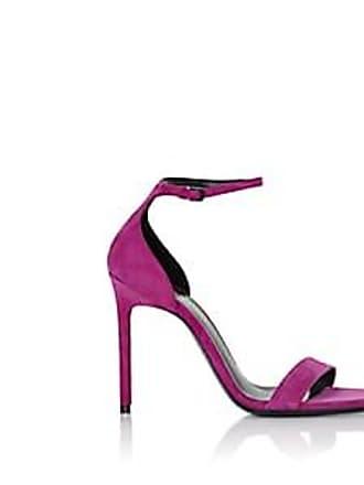 7c48e5c7bec8 Saint Laurent Womens Amber Suede Sandals - Md. Pink Size 11