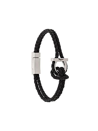Salvatore Ferragamo braided Gancini bracelet - Preto