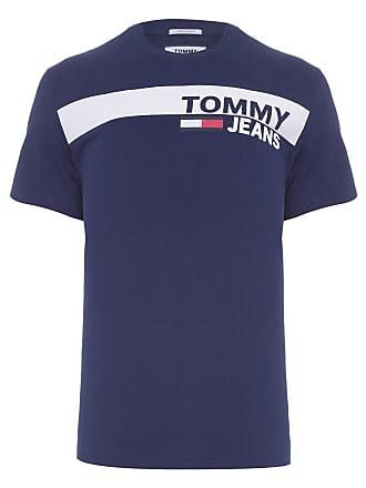 Tommy Jeans CAMISETA MASCULINA ESSENTIAL BOX LOGO - AZUL